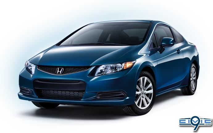 2012 honda civic named one of the best green cars by kelly blue book 9th generation honda. Black Bedroom Furniture Sets. Home Design Ideas