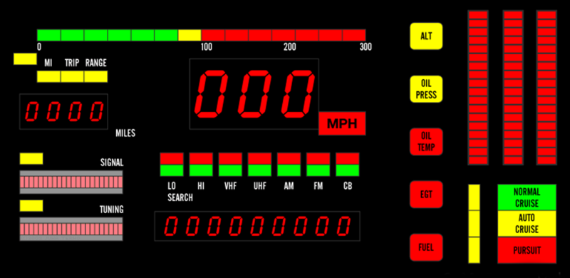Knight Rider KITT Dashboard 2012 Civic iMid Wallpaper