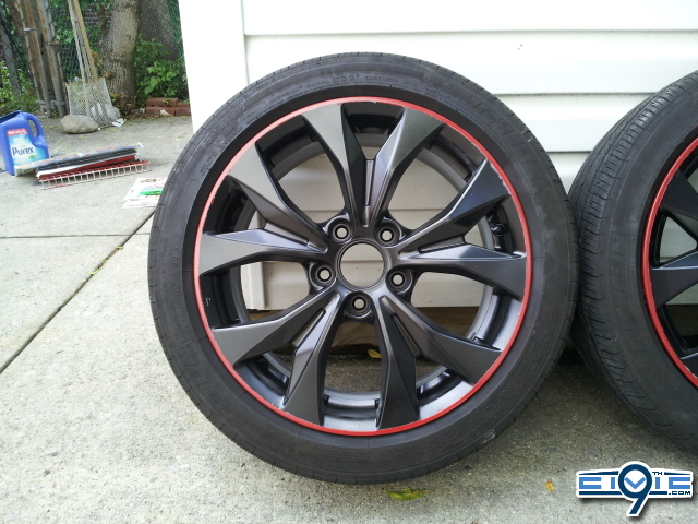 Diy diy how to paint your stock rims w lip 9th for Diy rim painting