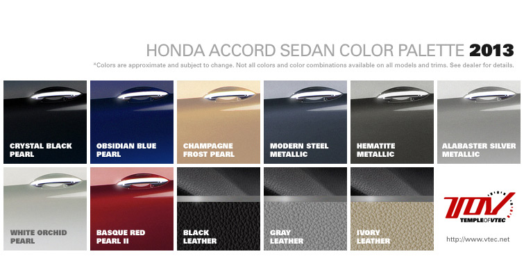 Accord Sedan Colors