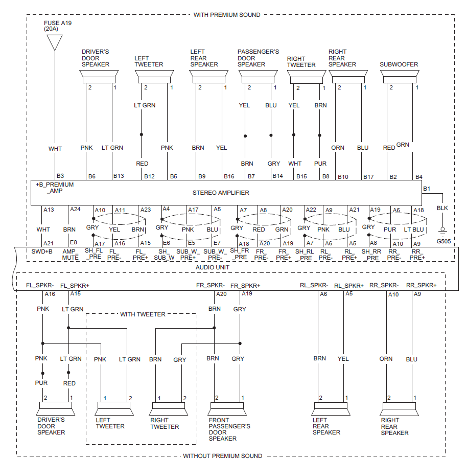 2012 Civic Audio Wiring Guide Pinouts For Factory Radio 9th Speaker Circuit Diagram Img