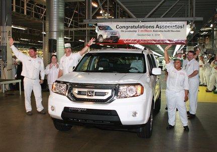Honda Production Returns At Alabama Plant